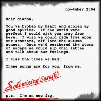 Sodomizing Sara(h) – P.S. I'm an Emo Fag